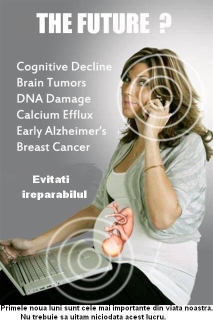 Consecințele Electrosmogului asupra sănătății la gravida